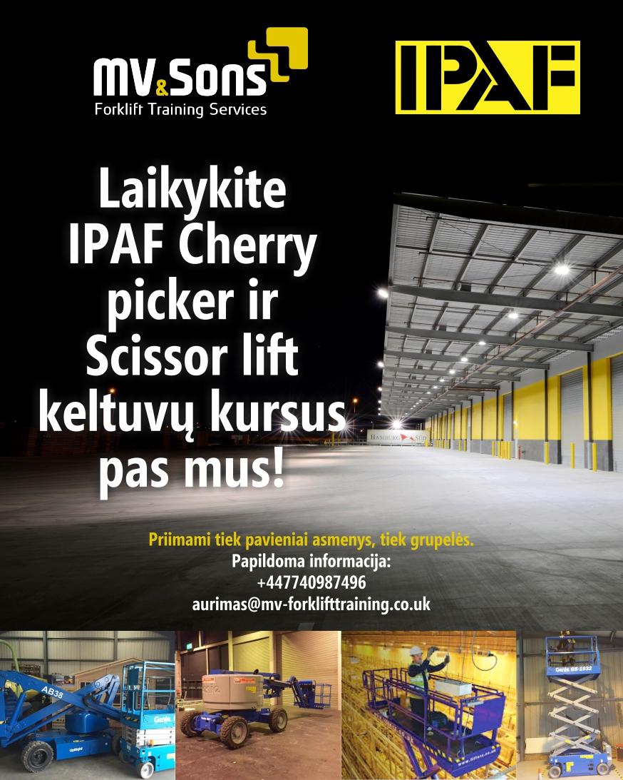 MV & Sons Forklift Training Services Ltd - LLOP and PPT